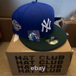 Hat Club Exclusive 7 3/8 Jae Conseils Yankee Vert Bleu Deux Tons Rose Uv Brim Bottom