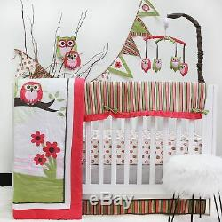 Hiboux Verts Roses 10 Pcs Ensemble De Literie Pour Lit De Bébé Couche Culotte Bébé Fille