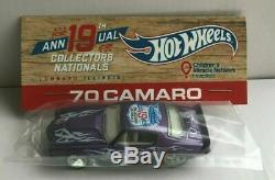 Hot Wheels 19e Nationals Bingo 70 Camaro Set 10 Rose, Vert, Bronze, Orange, Violet
