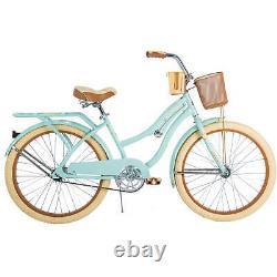 Huffy 24 Girls Womens Cruiser Bike, Mint Green, Purple, Blue, Pink Nel Lusso