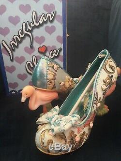 Irregular Choice Blushing Bird Taille 40 Vert Rose Bnib Royaume-uni 6.5 Mariage