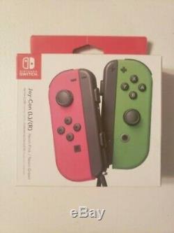 Jeu De Contrôleurs Neon Pink & Neon Green Joy Con (nintendo Switch) / Nouveau Dans La Boîte