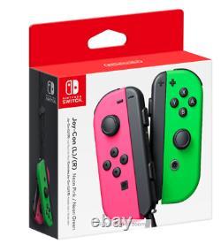 Joy-con (l/r) Contrôleurs Sans Fil Pour Nintendo Switch Neon Pink/neon Green