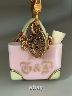 Juicy Couture Limited Edition 2007 Sac De Plage Charm Rose & Vert Menthe - Rare