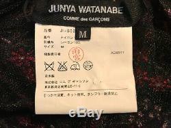 Junya Watanabe Brodé Jupe Longue Feuillage Rose Rouge Vert Tulle Noir M