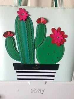 Kate Spade Sac À Main Nouveaux Horizons Len Petit Cactus Tote Vert Aqua Rose Noir Nouveau