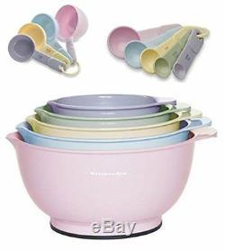 Kitchenaid Pastel Colours 14 Bols À Mélanger Pc. Tasses À Mesurer Cuillères Vert Rose Nouveau