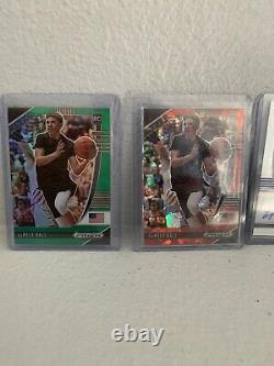 Lamelo Ball Prizm Auto Lot! Pink Red Green Rwb Cracked Ice Invest
