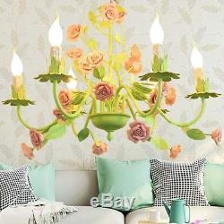 Lampe De Lustres Floraux Couleur Verte Lampe De Fleur Rose Décor À La Maison Moderne