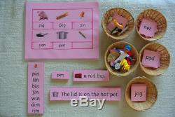 Langue Verte Montessori Rose Bleu Série