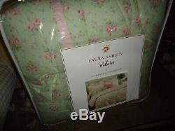 Laura Ashley Madeline Vert Floral Rose (4pc) California King Set Consolateur