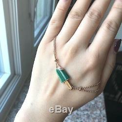 Le Vert Malachite Popsicles Diamant Bracelet Rose 18k Or Rose Nouveau