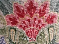 Lee Jofa 100% Lin Palazzo Floral Turquoise Bleu Vert Rouge Rose 6 Verges