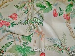 Lee Jofa Kravet Chinoiserie Tissu Pivoine 10 Mètres Shabby Rose Rose Vert