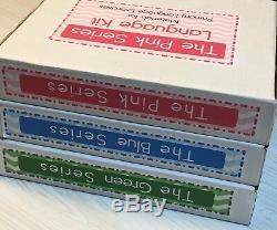 Les Roses, La Série Blue & Green Montessori Matériaux 3 Kits Complets Langue