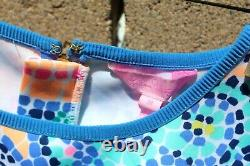 Lilly Pulitzer 2 Pièces Tenue Sz Petite Jupe Moyenne Haut Rose Bleu Vert Offre Nw
