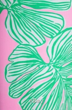 Lilly Pulitzer Robe Carlotta Maxi Who Let Frondes Out Rose / Vert 10 Tn-o