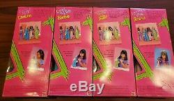 Lot De 4 1997 Christie Purple Panique Extreme Vert Barbie Skipper Teresa Rose Nib