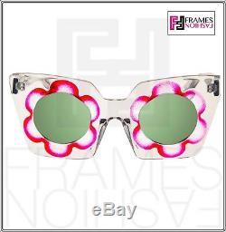 Markus Lupfer Linda Farrow Fleur Daisy Pink Glitter Vert Miroir Ml9 Lunettes De Soleil