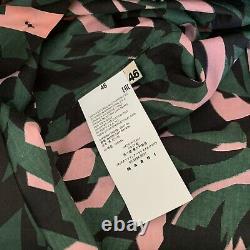 Marni Green, Rose & Black Abstract Print Cotton Shirt À Manches Longues. Tél. 46/royaume-uni 14