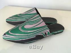 Marques Almeida Mini-jupe Vert Rose Noir Boucle De Ceinture 14 Neuf Avec Étiquettes