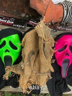 Masque De Crème Ghostface Vert Rose Orange Fluorescent Fun World Easter Unlimited