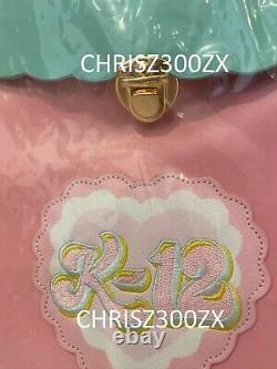 Melanie Martinez K-12 Sac À Dos Vinyle Sac À Dos Cry Baby Mint Green Pink Faux Fur K12
