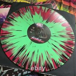 Miami Nights 84 Turbulence Rose Vert Swirl Noir Splatter Vinyl Lp Record Patch