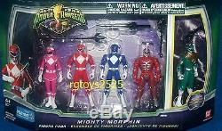 Mighty Morphin Power Ranger Set Rouge Rose Bleu Vert 4 Ranger Nouveau Lord Zedd 2010