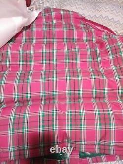 Moncler Chou Logo Vers Le Bas Manteau Rose Et Vert Taille 1 T.nwt Croix Sur L'étiquette