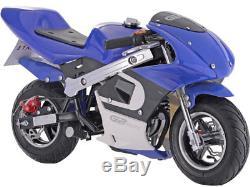 Mototec Vélo De Poche À Essence 4 Temps 40mcc Gbmoto, Noir, Bleu, Vert Ou Rose