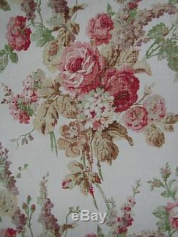 Mulberry Rideau / Garnissage Conception Florale Vintage Metres 3,9 Rose / Vert