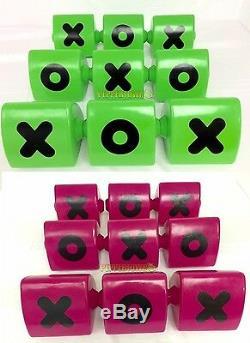 Naughts Croix Blocs Hot Pink Playground Vert Cubbyhouse Extérieur Tic Tac Toe