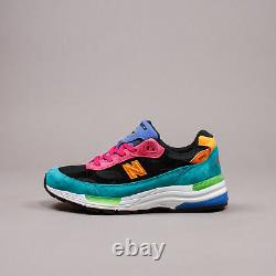 New Balance 992 Green Pink Multicolor Made In USA Lifestyle Gym Hommes Chaussures M992re