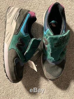 New Balance 999 Made In USA Chaussure Lifestyle Charbon / Vert / Rose Taille 12 M999jtb