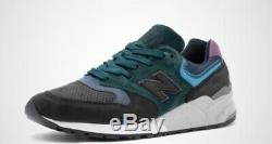 New Balance 999 Made In USA Lifestyle Chaussures Charcoal / Vert / Rose Taille 13 M999jtb