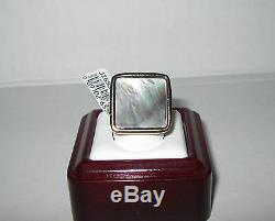 New Bold Place Mère-de-pearl Multi Pinks Verts Bague 14k Or Taille 9 422 $