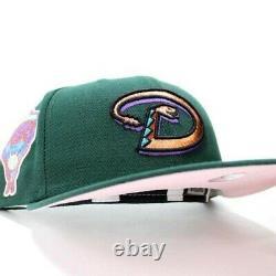 New Era 59fifty Fitty Green Arizona Diamondbacks 1998 Patch Pink Uv Nouveau 7 1/4