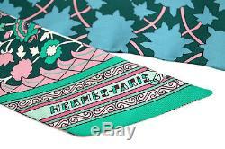 Nib Auth Hermes Persans Vert Rose Tapis Twilly Foulard En Soie Pour Birkin Kelly Sac