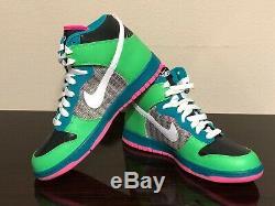 Nike 6.0 Dunk High Wmns Top Neon Vert / Rose / Teal 342257-311 Sz 11 (mens 9.5) Nouveau