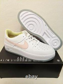 Nike Air Force 1 Sage Faible Chaussures Femmes Blanc/pink/green/blue Taille 12 Cw5566-100