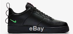 Nike Air Force De 1'07 Lv8 Utilitaire Noir / Hyper Rose / Vert Baskets Homme Toutes Les Tailles