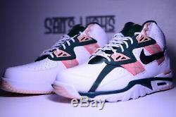 Nike Air Formateur Sc Haute Blanc Rose Vert Cu6672-100 Sz 10-11.5 Bo Jackson