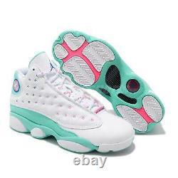 Nike Air Jordan 13 Rétro Gs Aurora Vert Blanc Rose XIII Femme 439358-100