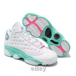 Nike Air Jordan 13 Retro Gs Aurora Vert Blanc Rose XIII Femmes Fille 439358-100