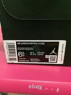 Nike Air Jordan 13 Rétro Gs Blanc Soar Aurora Vert Rose 439358-100 Taille 6.5y=8w