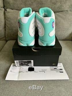 Nike Air Jordan 13 Retro Gs Soar Taille Blanc Rose Vert 7y Withreceipt 439358-100