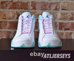 Nike Air Jordan 13 XIII Rétro Gs Blanc Soar Aurora Vert Rose 439358-100