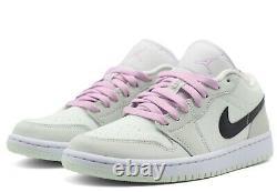 Nike Air Jordan 1 Low Se W À Peine Vert Cz0776-300 Noir Léger Artic Rose Vert