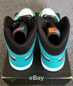 Nike Air Jordan 1 MID Se South Beach Mens Sz 11 Miami Vice Vert / Rose 852542 306